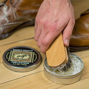 Bickmore Saddle Soap with brush