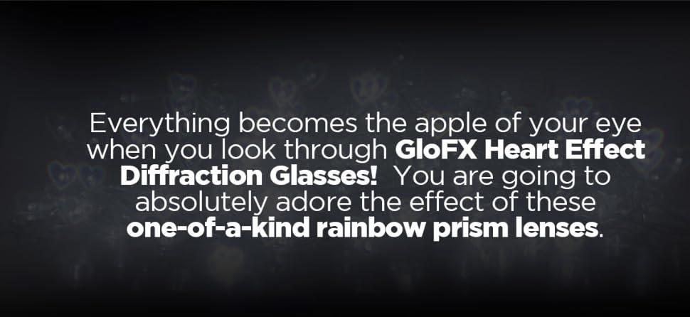 Amazon.com: 5 GloFX papel efecto de corazón anteojos de ...