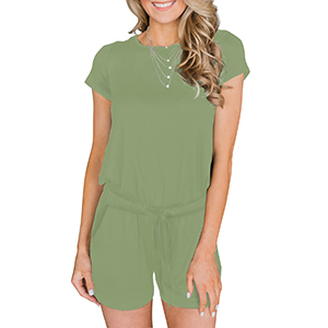 casual green jumpsuit