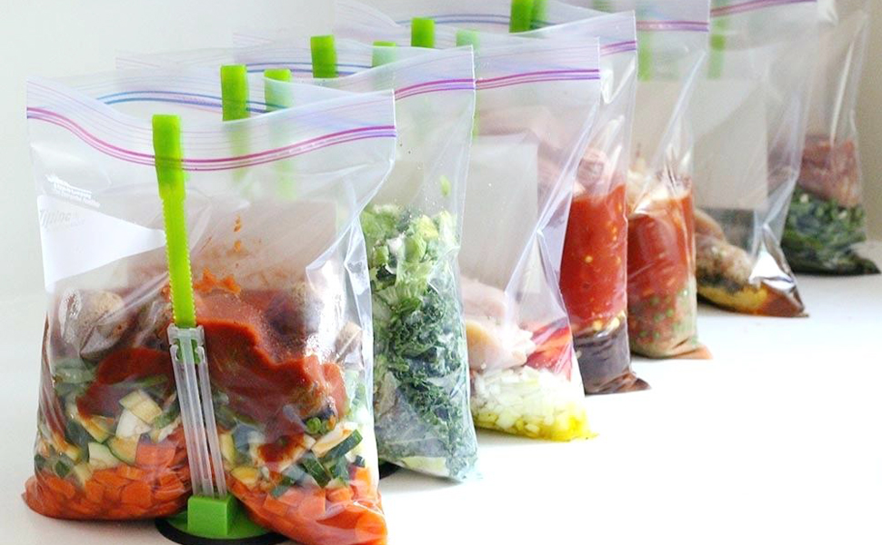 baggy rack food storage hands-free