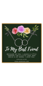 to my best friend necklace