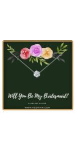 Bridesmaid proposal necklace
