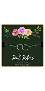 sterling silver soul sisters bracelet