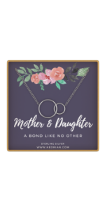 Sterling Silver Mother Daughter Necklace Mom gifts christmas birthday holiday gift