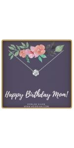 happy birthday mom necklace