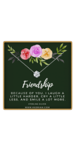 friendship cz necklace