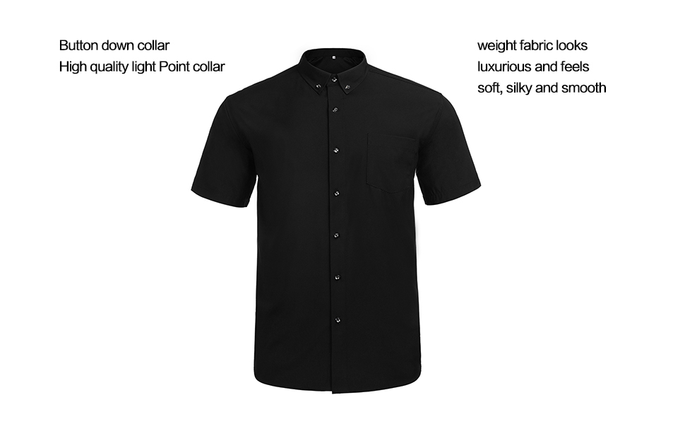 Jeopace Mens Big and Tall Short Sleeve Button Down Dress Shirts,Business Casual,L XL 2XL 3XL 4XL