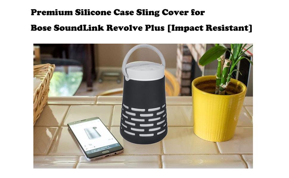 Portable Silicon Sling Cover Carry Case Skin for Bose-SoundLink Revolve//Revolve+