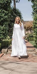 ModWhite White Lavender Dress