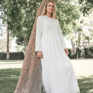 ModWhite Buttercup White Temple Dress