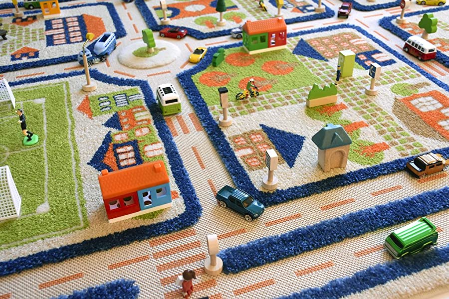 Amazon Com Traffic Blue By Ivi 3d Play Rugs 39x59 Inches