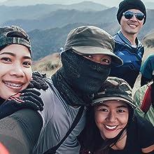 hiking climbing face mask bandana neck gaiter
