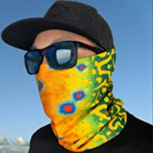 fishing face mask shield neck gaiter brook trout