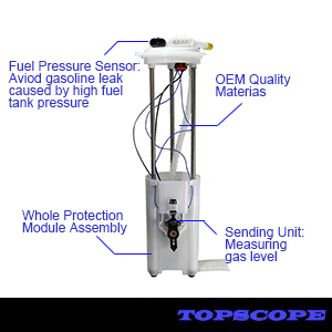 Amazon Com Fuel Pump Assembly For 1997 1998 1999 2000 Chevy Gmc Pickup Truck Compatible With 19177242 E3947m With 2 Electrical Connectors Fp74757m Topscope Automotive