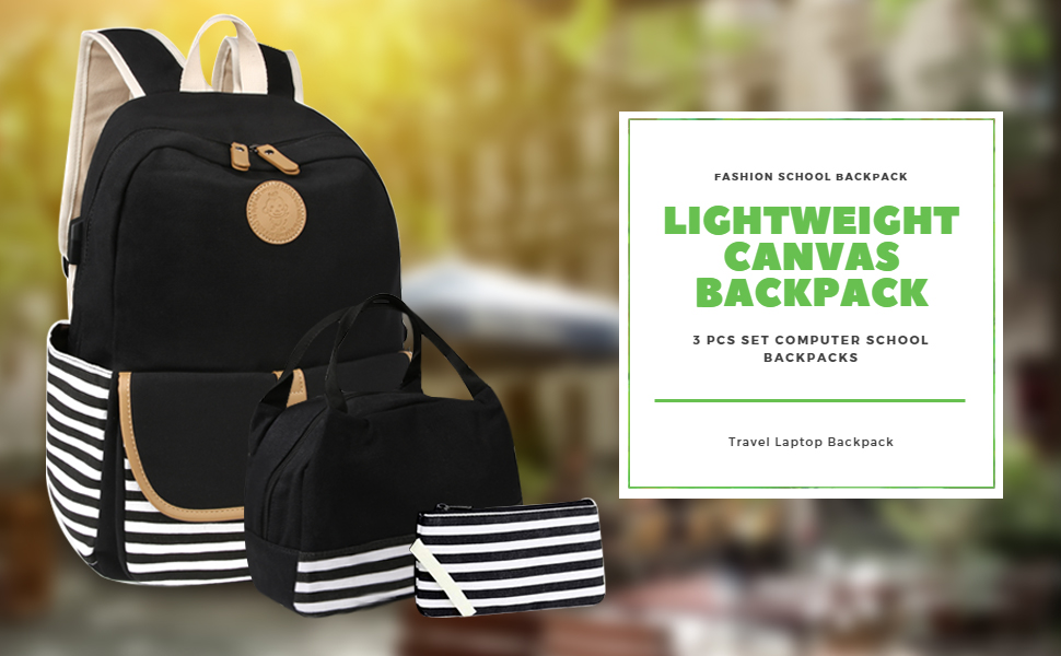 scione lightweight canvas backpack for women