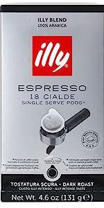 illy E.S.E. Pods Coffee, Decaffeinated Roast · illy E.S.E. Pods Coffee, Dark Roast · illy E.S.E. Pods Coffee, Medium Roast