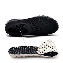 Women's Fashion Sneakers Slip On Mesh Air Cushion Walking Tennis Shoes Comfort Wedge Platform Loafer