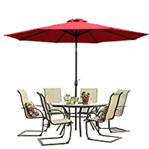 our patio umbrella series is the perfect answer for a bright and sunny day composed of our 9 foot patio umbrella 10 foot offset patio umbrella - Patio Table With Umbrella