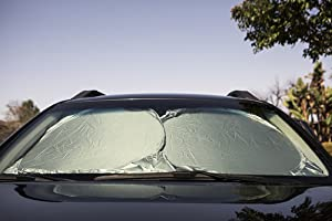 63 x 35 for Car Truck SUV Easy to Use Large Pop up Sun Shade UV Protector Shields Auto /& Keeps Vehicle Cooler Car Windshield Sunshade Jumbo