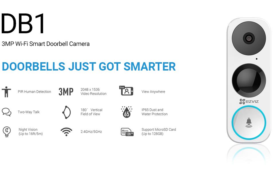 ezviz, video doorbell, wifi doorbell, smart doorbell