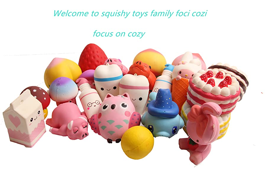 Amazon.com: Kawaii Squishies Slow Rising Tooth Stress Relief Wrist Rest Toy foci cozi for Play 1 ...