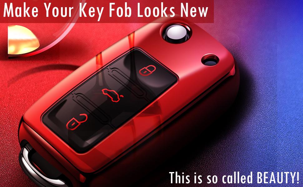 vw key fob cover for Golf Passat Jetta Beetle Rabbit GTI CC EOS