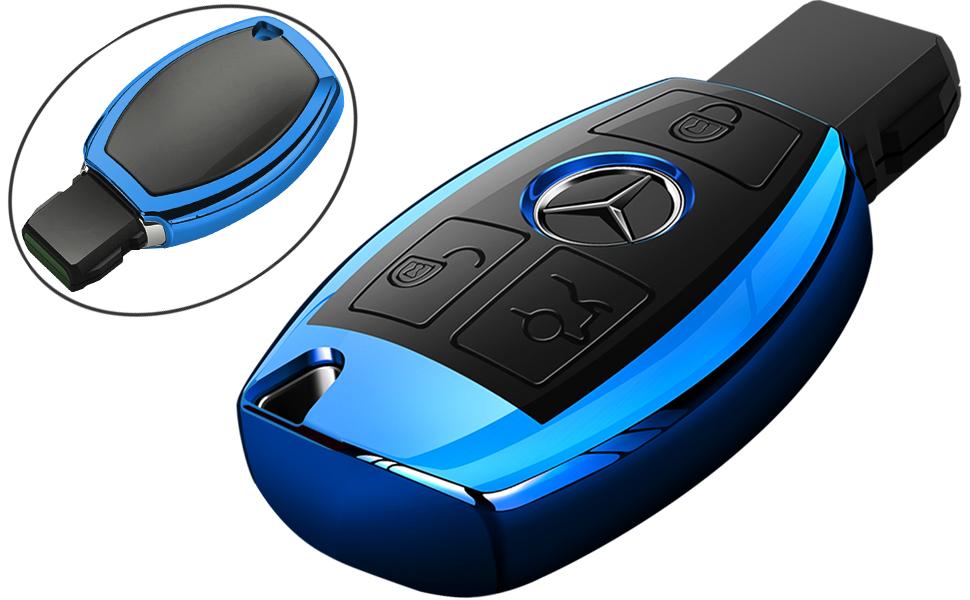 Mercedes Benz Key Fob Cover Blue