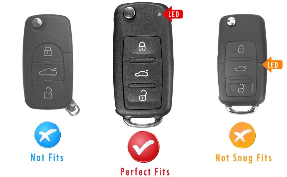 vw key fob case for Jetta Passat Golf Beetle Rabbit GTI CC EOS Flip