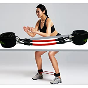 Sports & Entertainment Fitness & Body Building Fitness Bounce Trainer Leg Resistance Bands Trainer Rope Crossfit Jump Strength Agility Training Strap Gym Equipment Accessories Reliable Performance