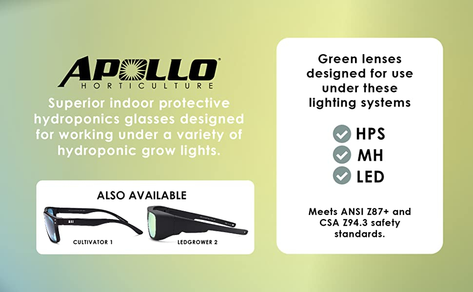 superior indoor protective hydroponic glasses designed for working under a variety of grow lights