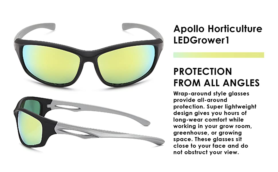 ours glasses are super lightweight and gives you all angle protection with the wrap around design