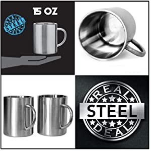 Steel Coffee Cups