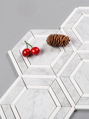 carrara hexagon tile 7