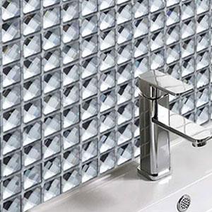 Murrini Crystal Glass Mosaic Tiles 108 Tiles Milk Chocolate