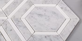carrara hexagon tile8