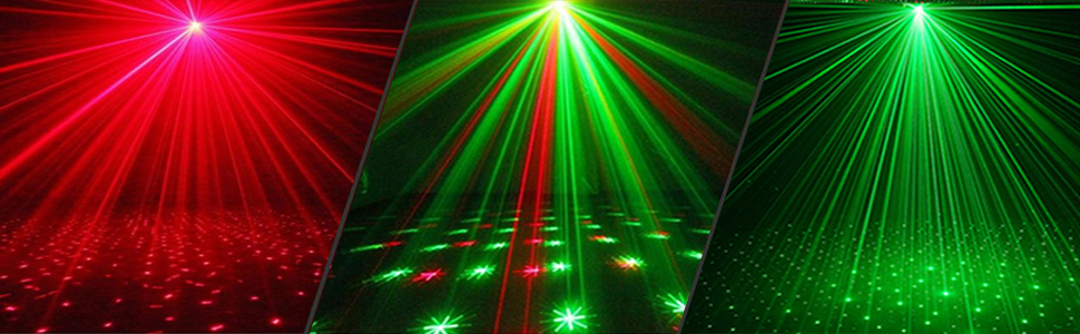 Ideal for Party softeen Party Projector Light with 16 Lighting Patterns RGB LED Light with Red and Green Projector Light Supports Sound Activated and Remote Control Modes Strobe Light for Parties