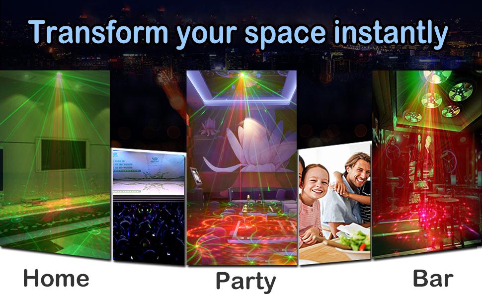 Flashandfocus.com c3c130ca-a35d-4eff-b531-eb69a2f1d73f._CR0,0,970,600_PT0_SX970__ Party Lights DJ Lights,Disco Stage lights Sbolight Led Projector Strobe lights dj equipment for Stage Lighting with…