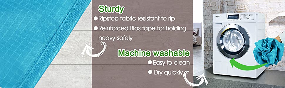 Ripstop fabric reuseable grocery bags