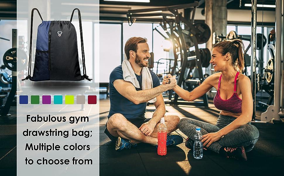 Eyas Drawstring Backpack Rucksack Shoulder Bags Training Gym Sack For Man And Women