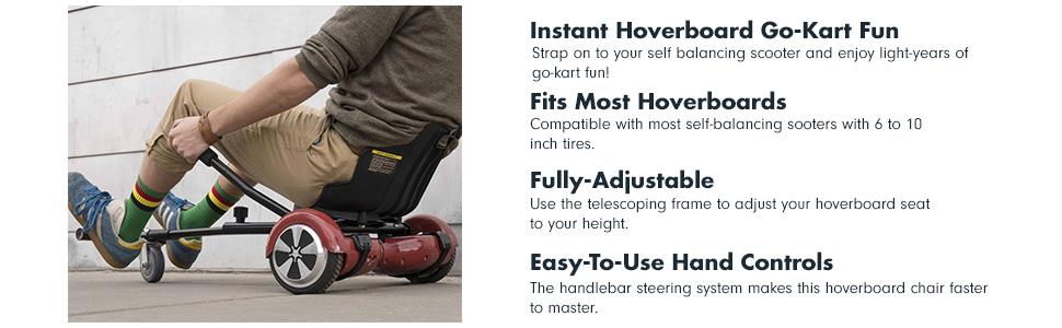 Amazon.com: gotrax Hoverfly Kart – Hover Board asiento de ...