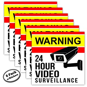 6 pack of camera stickers