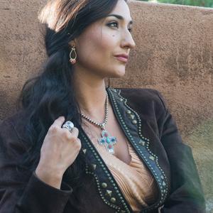 925 sterling silver leather gemstone cuff link bracelet earring necklace pendant ring navajo western