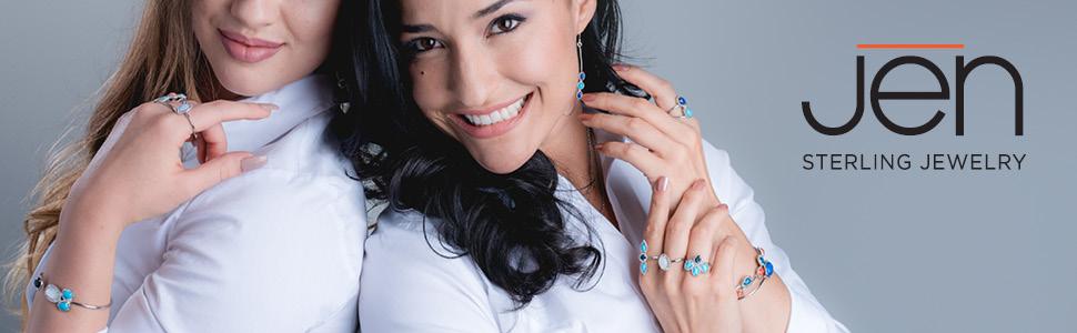 925 sterling silver gemstone elegant brilliant polish cuff bracelet earring necklace pendant ring