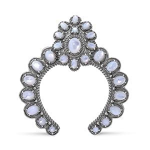 sterling silver gemstone snap enhancer pendant necklace western navajo turquoise vintage antique