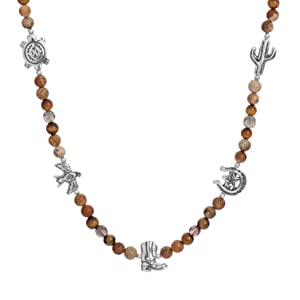 sterling silver gemstone necklace nature bead spirit celestial earth critter native rope animal