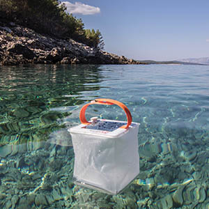 Floating Pool Light LuminAID solar lantern