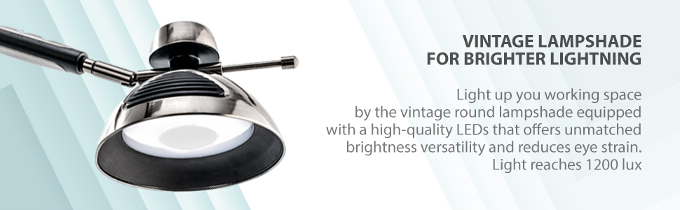 vintage lampshade bright light natural eye care lamp