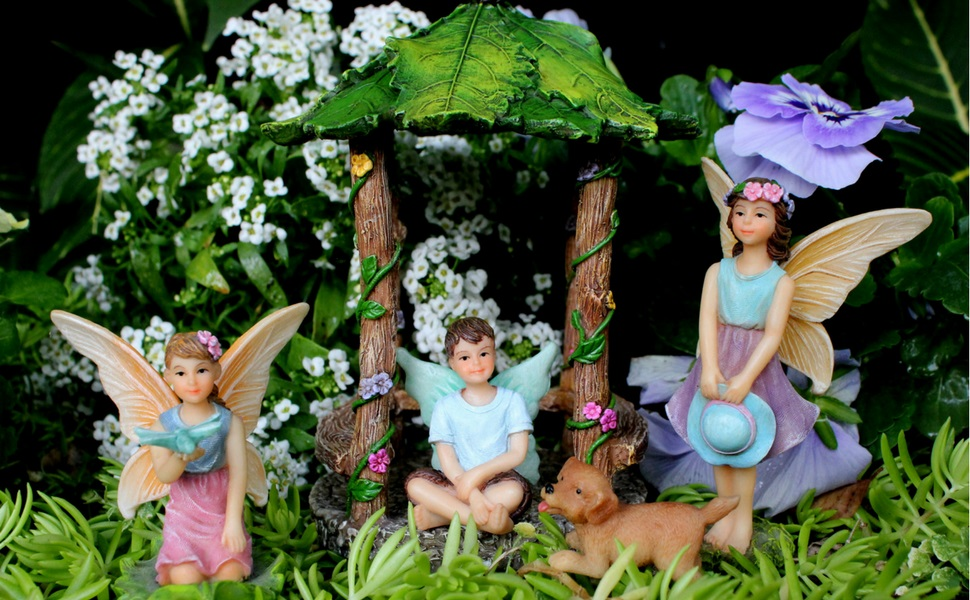 Amazon.com : Pretmanns Fairy Garden Fairies - Miniature Accessories ...