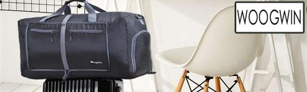 darkblue Woogwin Travel Duffel Bag Womens /& Mens Large Foldable Duffle Sports Gym Bags