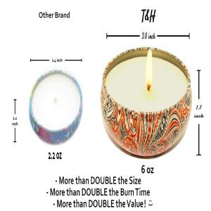 T&H set4 aromatherapy tin candles